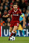 Jordan Henderson of Liverpool during the Champions League Group E match at the Anfield Stadium, Liverpool. Picture date 13th September 2017. Picture credit should read: Simon Bellis/Sportimage