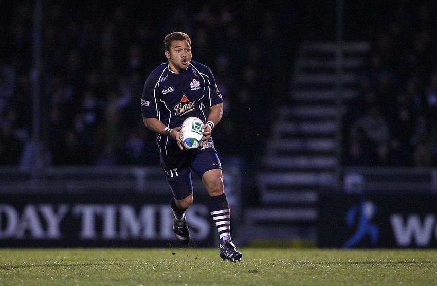 Photo: Richard Lane/Richard Lane Photography..Bristol Rugby v Stade Francais. Heineken Cup. 18/11/2007. .Bristol's Josh Taumalolo attacks.