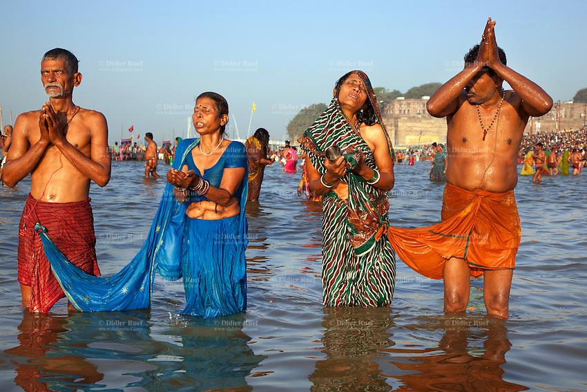 Nude bathing ing ganges river