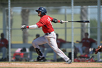 Boston Red Sox second baseman Deiner Lopez (7) during a minor league spring training game against the Baltimore Orioles on March 18, 2015 at Buck O'Neil Complex in Sarasota, Florida.  (Mike Janes/Four Seam Images)