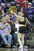 SEATTLE, WA - DECEMBER 18: Washington cheerleader Alisa Yoshikawa entertained fans during a timeout against Savannah State.  Washington won 87-36 over Savannah State at Alaska Airlines Arena in Seattle, WA.