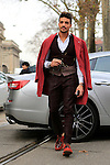 Mariano Di Vaio at the entrance of the Gucci fashion show as part of the Milan Fashion Week Men's wear Fall/Winter 2015/2016, in Milan on January 19, 2015.