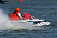 "F-999 ""Miss Washington D. C."", 1962 Lauterbach 266 class hydroplane..Dayton Testing, April 2004 Eastwood Park Lake, Dayton, Ohio USA..F. Peirce Williams .photography.P.O.Box 455 Eaton, OH 45320.p: 317.358.7326  e: fpwp@mac.com."