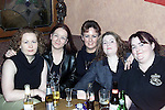 Elaine O'Connor, Hillview, Orla Campbell, St. Finian's Park, Amanada Maguire, St. Finian's Park, Carrianne Walsh, Glenmore Drive and Gina Walsh, Glenmore Drive enjoying the New Year celebrations in the Weavers..Picture: Newsfile