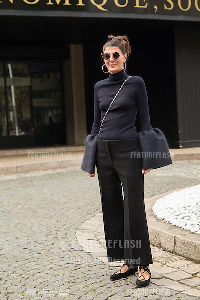 Giovanna Battaglia attend Miu Miu Show Front Row - Paris Fashion Week  2016.<br /> October 7, 2015 Paris, France<br /> Picture: Kristina Afanasyeva / Featureflash