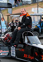 Jul 20, 2018; Morrison, CO, USA; NHRA top fuel driver Terry Totten during qualifying for the Mile High Nationals at Bandimere Speedway. Mandatory Credit: Mark J. Rebilas-USA TODAY Sports