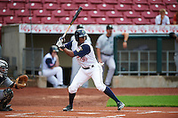 Cedar Rapids Kernels outfielder Edgar Corcino (36) at bat during a game against the Kane County Cougars on August 18, 2015 at Perfect Game Field in Cedar Rapids, Iowa.  Kane County defeated Cedar Rapids 1-0.  (Mike Janes/Four Seam Images)