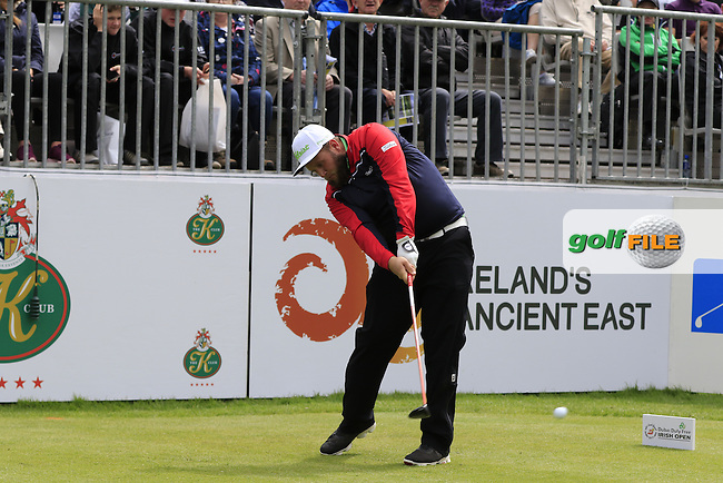 Andrew Johnston (ENG) tees off the 1st tee during Wednesday's Pro-Am of the 2016 Dubai Duty Free Irish Open hosted by Rory Foundation held at the K Club, Straffan, Co.Kildare, Ireland. 18th May 2016.<br /> Picture: Eoin Clarke | Golffile<br /> <br /> <br /> All photos usage must carry mandatory copyright credit (&copy; Golffile | Eoin Clarke)