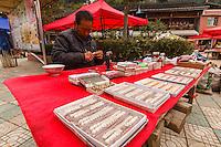 Asia,Cina,Danzhai,Ya Hui, markets prosthetic dentures ,China minority