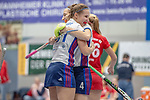 Mannheim, Germany, January 12: During the 1. Bundesliga women indoor hockey match between Mannheimer HC and Ruesselsheimer RK on January 12, 2020 at Irma-Roechling-Halle, Am Neckarkanal in Mannheim, Germany. Final score 5-4. (Photo by Dirk Markgraf / www.265-images.com) *** Isabella Schmidt #31 of Mannheimer HC