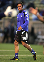 2 April 2005:   Troy Dayak of Earthquakes during warm-up before the game against Revolution at Spartan Stadium in San Jose, California.   Earthquakes and Revolutions tied at 2-2.  Credit: Michael Pimentel / ISI