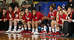 BROOKINGS, SD - MARCH 30:  The Indiana University bench realizes late in the game their chances of advancing to the final four are disappearing against  South Dakota State University late in the second half of their WNIT quarterfinal game Sunday afternoon at Frost Arena in Brookings. The Hoosiers fell to the Jackrabbits 76-64.(Photo by Dave Eggen/Inertia)