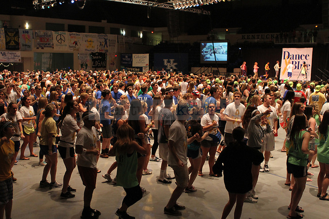 Overview of DanceBlue at 7am at Memorial Coliseum Saturday February 23th, 2013. Photo by Kirsten Holliday | Staff