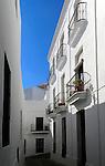 Traditional whitewashed houses in Vejer de la Frontera, Cadiz Province, Spain