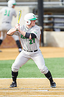 Brenden Wells (27) of the Marshall Thundering Herd at bat against the Wake Forest Demon Deacons at Wake Forest Baseball Park on February 17, 2014 in Winston-Salem, North Carolina.  The Demon Deacons defeated the Thundering Herd 4-3.  (Brian Westerholt/Four Seam Images)