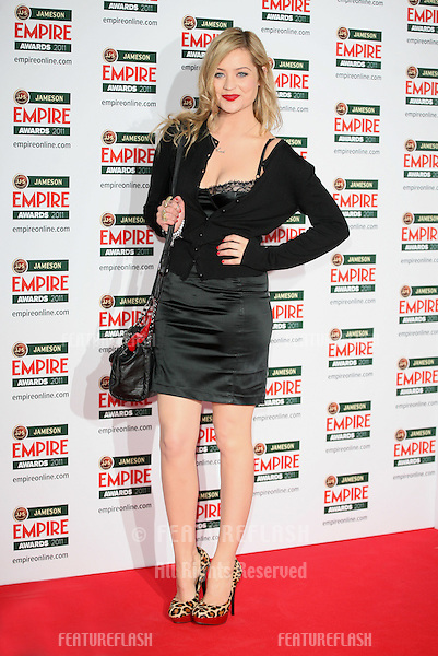 Laura Whitmore arriving for the Jameson Empire Awards 2011, Grosvenor House Hotel, London. 27/03/2011  Picture by: Alexandra Glen / Featureflash