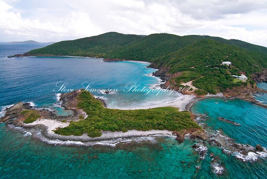Aerial view of Botany Bay<br /> St. Thomas<br /> U.S. Virgin Islands