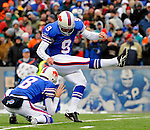 9 December 2007: Buffalo Bills kicker Rian Lindell converts a touchdown against the Miami Dolphins at Ralph Wilson Stadium in Orchard Park, NY. The Bills defeated the Dolphins 38-17. ..Mandatory Photo Credit: Ed Wolfstein Photo