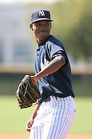March 17th 2008:  Jacinto Gonell of the New York Yankees minor league system during Spring Training at Legends Field Complex in Tampa, FL.  Photo by:  Mike Janes/Four Seam Images