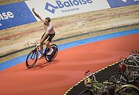 Victory lap for Sir Bradley Wiggins (GBR/Wiggins)<br /> <br /> 2016 Gent 6<br /> day 5
