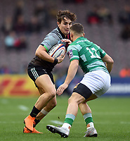 Cadan Murley of Harlequins in possession. Premiership Rugby Cup match, between Harlequins and Newcastle Falcons on November 4, 2018 at the Twickenham Stoop in London, England. Photo by: Patrick Khachfe / JMP