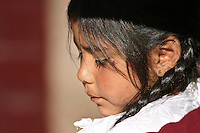 Girl in the main plaza in Cuzco, Peru.  With the benefit of hindsight, one of the common elements of all my images of Cuzco and its surroundings, was a certain sadness and melancholy to the people of the area.