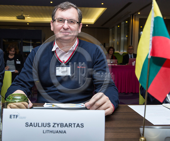 BRUSSELS - BELGIUM - 25 November 2016 -- European Training Foundation (ETF) Governing Board meeting. -- Saulius Zybartas, Director of the Department of General ducation and Vocational Training Ministry of Education and Science. -- PHOTO: Juha ROININEN / EUP-IMAGES