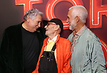 "Harvey Fierstein, Larry Kramer and David Webster attends the Broadway Opening Night of ""Torch Song"" at the Hayes Theater on Noveber 1, 2018 in New York City."
