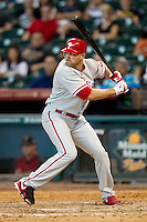 Philadelphia Phillies outfielder Nate Schierholtz #22 at bat during the Major League baseball game against the Houston Astros on September 16th, 2012 at Minute Maid Park in Houston, Texas. The Astros defeated the Phillies 7-6. (Andrew Woolley/Four Seam Images).