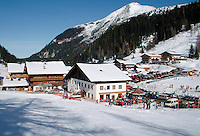 Ski resort town of Altenmarkt in the Austrian Alps, Austria