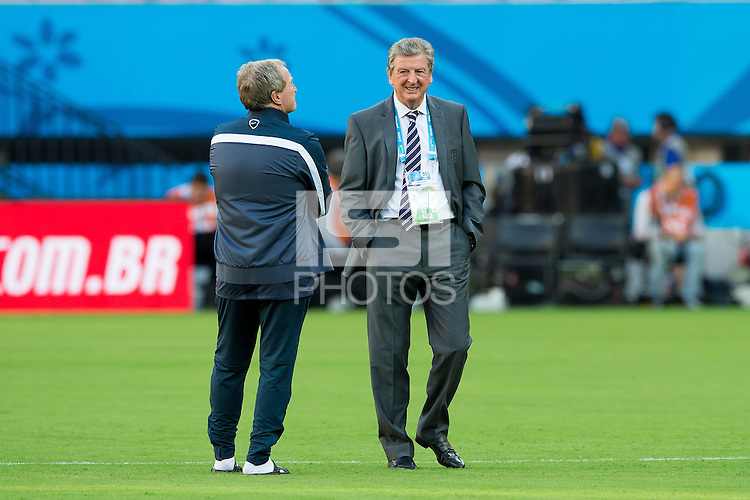 England manager Roy Hodgson with his assistant Ray Lewington