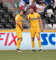 Preston North End's Ben Pearson (left) & Preston North End's Paul Gallagher (right) <br /> <br /> Photographer David Horton/CameraSport<br /> <br /> The EFL Sky Bet Championship - Swansea City v Preston North End - Saturday 17th August 2019 - Liberty Stadium - Swansea<br /> <br /> World Copyright © 2019 CameraSport. All rights reserved. 43 Linden Ave. Countesthorpe. Leicester. England. LE8 5PG - Tel: +44 (0) 116 277 4147 - admin@camerasport.com - www.camerasport.com