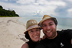 Allison and I on Lankayan Island on Thursday May 2nd  2013 in Sandakan, Malaysia. (Photo by Brian Garfinkel)