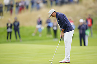 Rickie Fowler (Team USA) on the 5th during the friday fourballs at the Ryder Cup, Le Golf National, Iles-de-France, France. 27/09/2018.<br /> Picture Fran Caffrey / Golffile.ie<br /> <br /> All photo usage must carry mandatory copyright credit (© Golffile | Fran Caffrey)