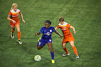 Orlando, FL - Thursday June 23, 2016: Denise O'Sullivan, Jamia Fields, Rebecca Moros during a regular season National Women's Soccer League (NWSL) match between the Orlando Pride and the Houston Dash at Camping World Stadium.