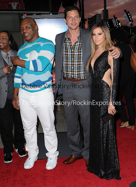 Mike Tyson,Simon Rex and Ashley Tisdale  at The Dimension Films Premiere of Scary Movie V held at The Cinerama Dome in Hollywood, California on April 11,2013                                                                   Copyright 2013 Hollywood Press Agency