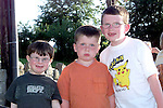 Conor O'Dowd, robert Byrne and Conor Byrne at the opening of Tullyallen Village Square..Picture Paul Mohan Newsfile