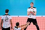 16.09.2019, Lotto Arena, Antwerpen<br />Volleyball, Europameisterschaft, Deutschland (GER) vs. …sterreich / Oesterreich (AUT)<br /><br />Tobias Krick (#2 GER), Simon Hirsch (#13 GER)<br /><br />  Foto © nordphoto / Kurth