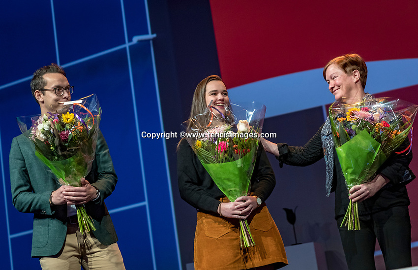 Nieuwegein, Netherlands, November 23,  2019, MBC Congrescentrum, KNLTB Year Congres , volunteer of the year election<br /> Photo: Tennisimages/Henk Koster