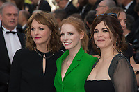 Agnes Jaoui, Jessica Chastain &amp; Maren Ade at the premiere for &quot;The Meyerowitz Stories&quot; at the 70th Festival de Cannes, Cannes, France. 21 May  2017<br /> Picture: Paul Smith/Featureflash/SilverHub 0208 004 5359 sales@silverhubmedia.com