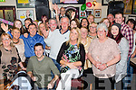 Fifty and fab<br /> ----------------<br /> Angela Stack, Ballybunion (seated centre) got an almighty surprise when she went into Mikey Joe's bar in the town last Friday night only to find a massive party of friends and family waiting to celebrate her 50th birthday with her