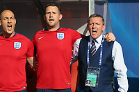 England Under21 manager Aidy Boothroyd sings the National anthem before Slovakia Under-21 vs England Under-21, UEFA European Under-21 Championship Football at The Kolporter Arena on 19th June 2017