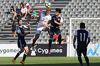 Joe Worrall of England U18's and Nottingham Forest heads the ball away during England Under-18 vs Scotland Under-20, Toulon Tournament Semi-Final Football at Stade Parsemain on 8th June 2017