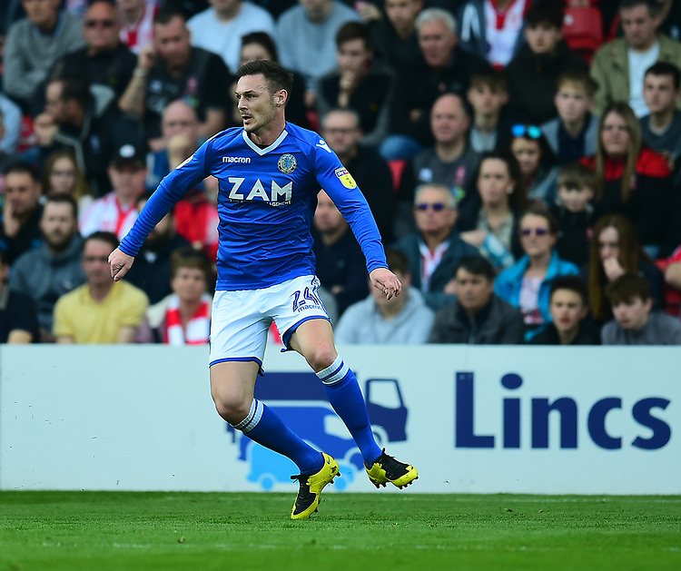 Macclesfield Town's Michael Rose<br /> <br /> Photographer Andrew Vaughan/CameraSport<br /> <br /> The EFL Sky Bet League Two - Lincoln City v Macclesfield Town - Saturday 30th March 2019 - Sincil Bank - Lincoln<br /> <br /> World Copyright © 2019 CameraSport. All rights reserved. 43 Linden Ave. Countesthorpe. Leicester. England. LE8 5PG - Tel: +44 (0) 116 277 4147 - admin@camerasport.com - www.camerasport.com