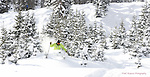 Wolf Creek Ski Instructor Dana Clark ripping up deep December powder
