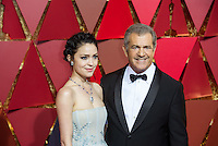 www.acepixs.com<br /> <br /> February 26 2017, Hollywood CA<br /> <br /> Actor/filmmaker Mel Gibson (R) and Rosalind Ross arriving at the 89th Annual Academy Awards at Hollywood &amp; Highland Center on February 26, 2017 in Hollywood, California.<br /> <br /> By Line: Z17/ACE Pictures<br /> <br /> <br /> ACE Pictures Inc<br /> Tel: 6467670430<br /> Email: info@acepixs.com<br /> www.acepixs.com
