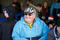 A Wycombe Wanderers fan before the Sky Bet League 2 match between AFC Wimbledon and Wycombe Wanderers at the Cherry Red Records Stadium, Kingston, England on 21 November 2015. Photo by Alan  Stanford/PRiME.