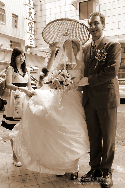Taiwanese Wedding -- The couple arrives back at the hotel...
