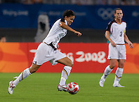 Shannon Boxx. The USWNT defeated Canada in extra time, 2-1, during the 2008 Beijing Olympics in Shanghai, China.