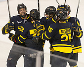 - The visiting Merrimack College Warriors defeated the Boston College Eagles 6 - 3 (EN) on Friday, February 10, 2017, at Kelley Rink in Conte Forum in Chestnut Hill, Massachusetts.